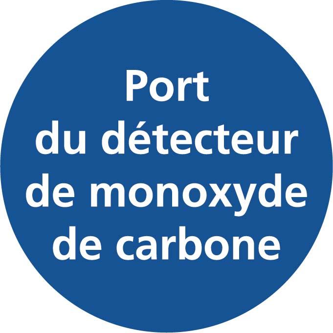 Port du détecteur de monoxyde de carbone Image