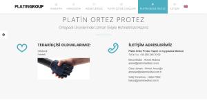 Platin Medikal HTML Web Sitesi