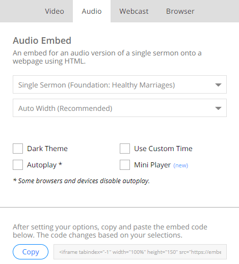 SermonAudio Tips | Accessing the browser's console for error