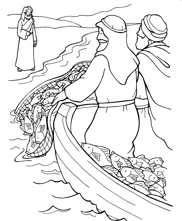 Fishing for People Coloring Page