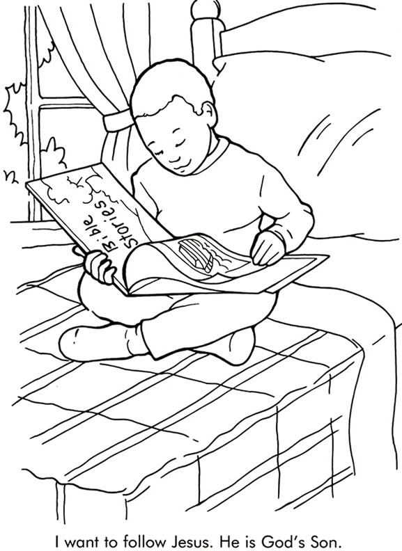I Want to Follow Jesus Coloring Page