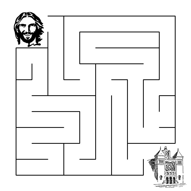 Jesus Goes To The Synagogue Maze