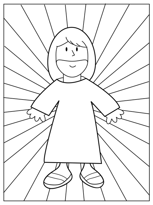 Walking in the Light Coloring Page
