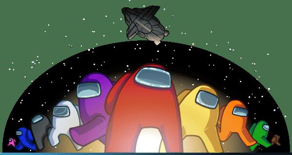 Image qui présente l'équipage dans le jeu Among Us
