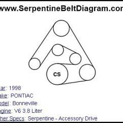 Chrysler 3 8 Serpentine Belt Diagram Bathroom Fan Wiring » 1998 Pontiac Bonneville For V6 3.8 Liter Engine