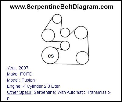 2007 ford taurus engine diagram 2002 pontiac grand am monsoon stereo wiring focus 2 3 free for you u00bb fusion serpentine belt 4 cylinder 2003 ranger