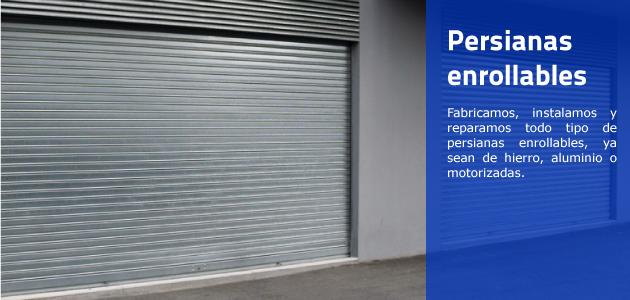 Imagen y descripción de una persiana enrollable.