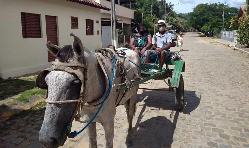 Casal de idosos de Cantagalo ainda utilizam charrete para locomoção