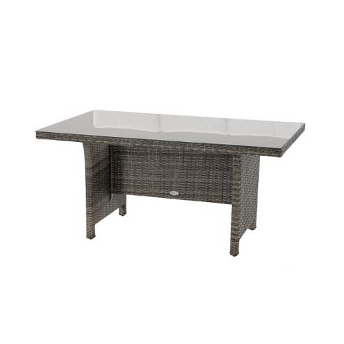 table de jardin mayari terre d ombre 8 places hesperide