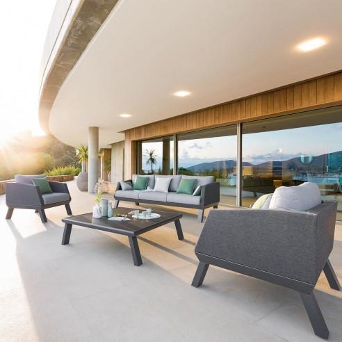 salon de jardin axiome 5 places en aluminium hesperide