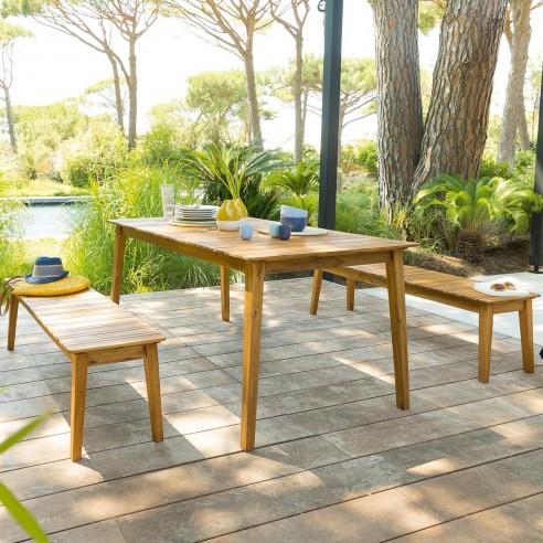 table de jardin tiwi en acacia 6 personnes hesperide