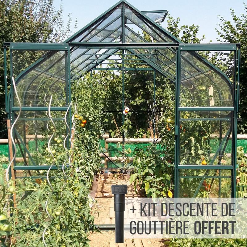 Serre De Jardin En Verre Trempe Aloe 8 25 M Aluminium Laque Vert