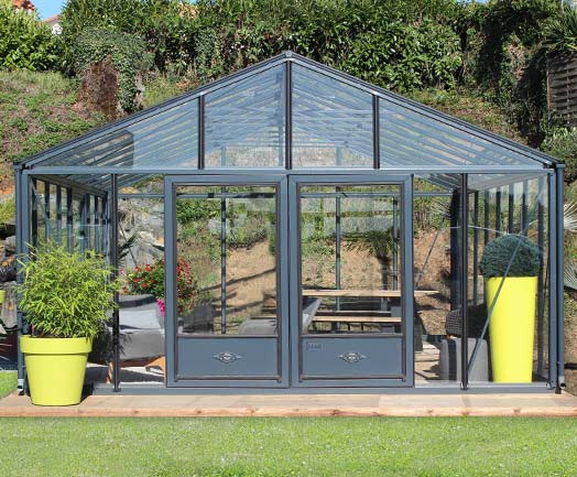 serre de jardin en aluminium verre