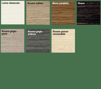 Finiture ed essenze legno per serramenti alluminio e legno