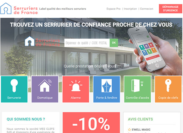 Site Web Serruriers-de-France.Com