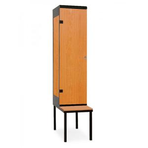 Armoire de vestiaire 1 porte avec banc