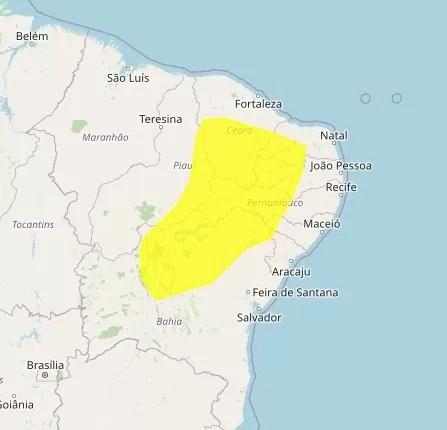 Inmet coloca 105 cidades da Paraíba sob alerta de baixa umidade