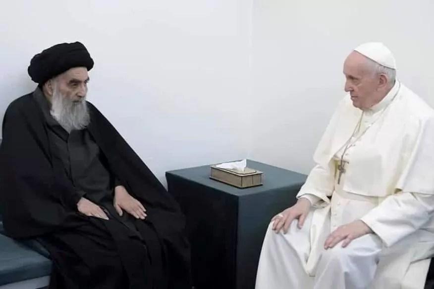 Aiatolá iraquiano diz ao papa que cristãos deveriam viver em paz