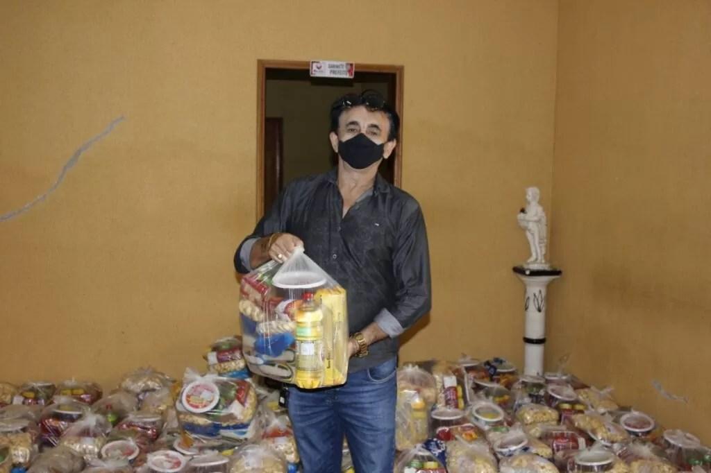 Prefeitura de Mato Grosso distribui cestas básica na Semana Santa