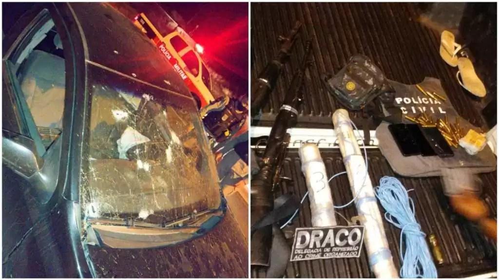 Polícia divulga que dois bandidos morreram no confronto na noite desta quarta-feira (13), em Patos