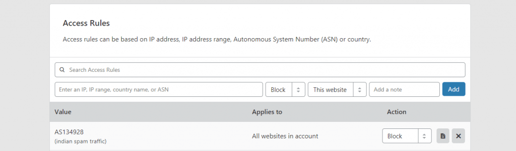 block ASN with Cloudflare