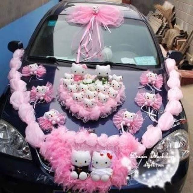 Mobil Pengantin Hello Kitty