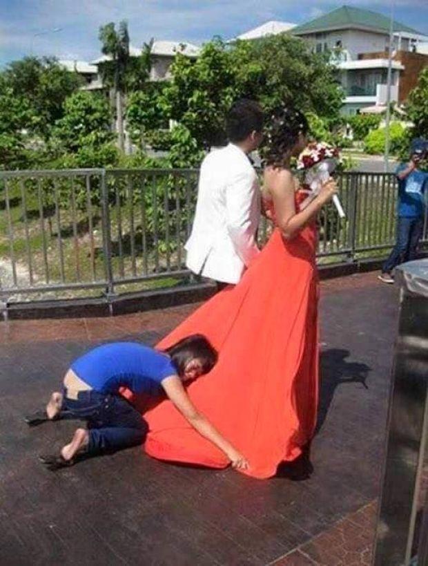 Mendapatkan Gaun yang Mengembang
