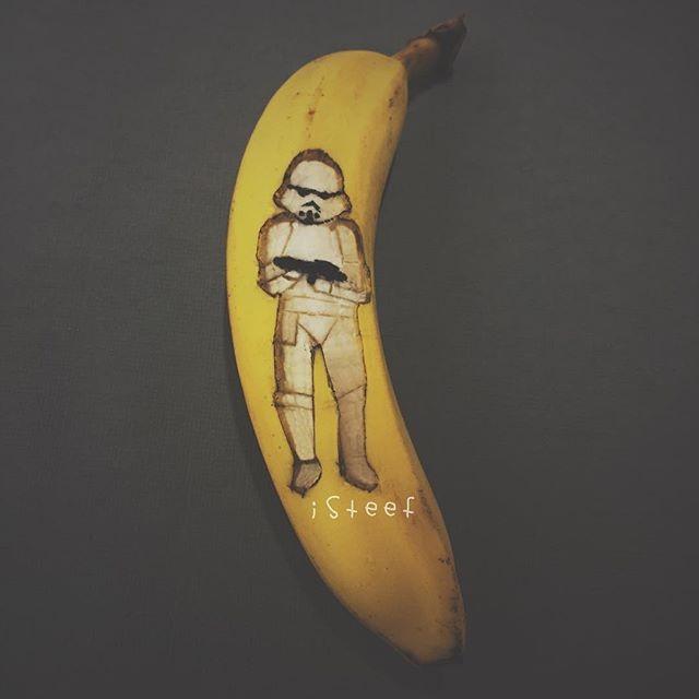 Pisang Bergambar Stormtrooper