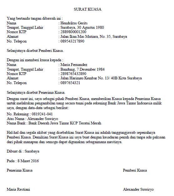 Surat Kuasa Lengkap Untuk Berbagai Keperluan - seruni.id