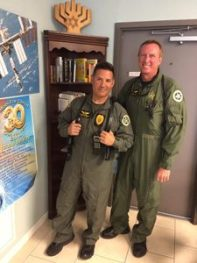 Left to Right: Tactical Flight Officer Bernie Bemardo, Melbourne Police Dept. and Pilot Officer Scott Harris, Brevard Sheriff Deputy