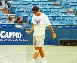 1993 US Open warming up