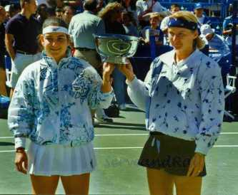 1994 US Open Doubles Champions Jana Novotna & A. Sanchez-Vicario