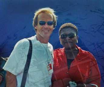 1996 US Open John Lloyd and fan