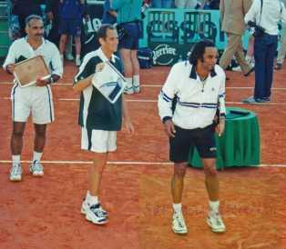 2000 Roland Garros Yannick Noah & Guy Forget def. JME & MB