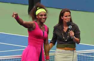 2012 US Open Serena & Mary Joe Fernandez