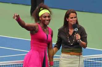 2012 US Open Serena & Mary Joe Fernandez