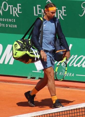 RNadal walking on court