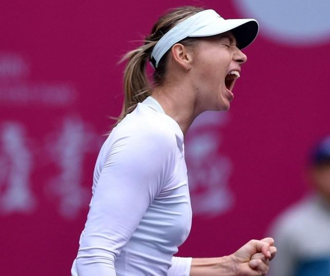 Sharapova wins Tianjin Open