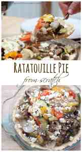 Put that Ratatouille in a homemade buttery pie crust and top it with some from scratch feta for a delicious, healthy, meatless dinner!