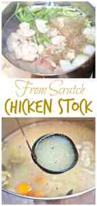 Why spend the money on Chicken Stock when you can make your own, from scratch with scraps??