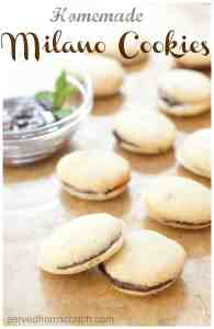 Chocolate Mint Milano Cookies are SO delicious and surprisingly easy to make at home, from scratch!