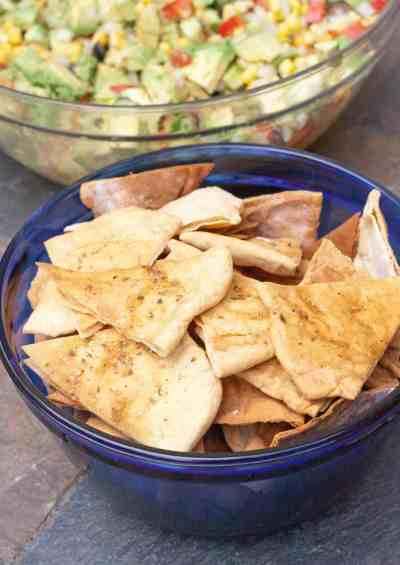 Pita chips from scratch!