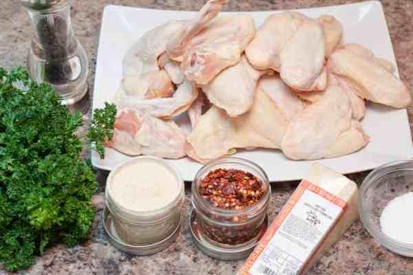 Parmesan garlic chicken wings made at home!