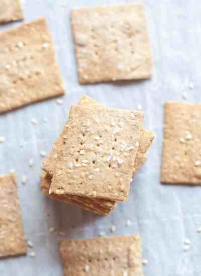 Have some extra sourdough starter? These Sourdough Sesame Rye Crackers make the perfect salty, crunchy, wheat-free, vegan friendly snack!