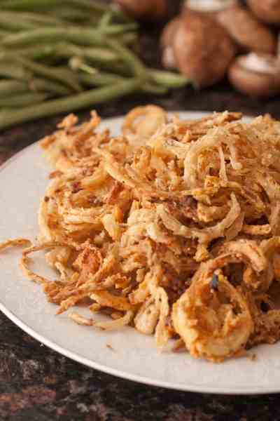 Take your holiday classics to a whole new level by making Copycat French's Fried Onions From Scratch and never buy store bought fried onions again!