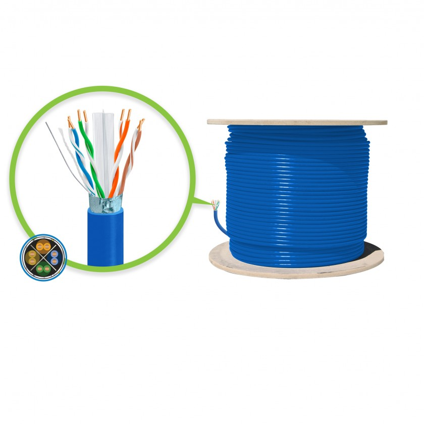 hight resolution of 305m blue cat6a shielded network cable futp solid lszh 23awg
