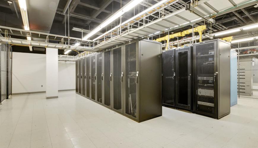 Data center servers at Oak Brook