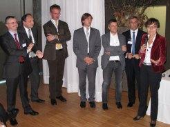 La premiazione Serverlab Innovation Award con Antonia Figini (NetApp), Massimiliano Grassi (Citrix)