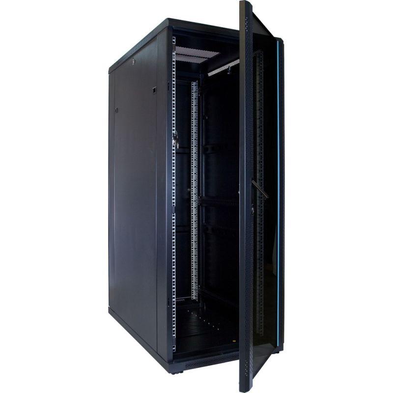 32u server rack with glass door 600x1000x1600mm wxdxh