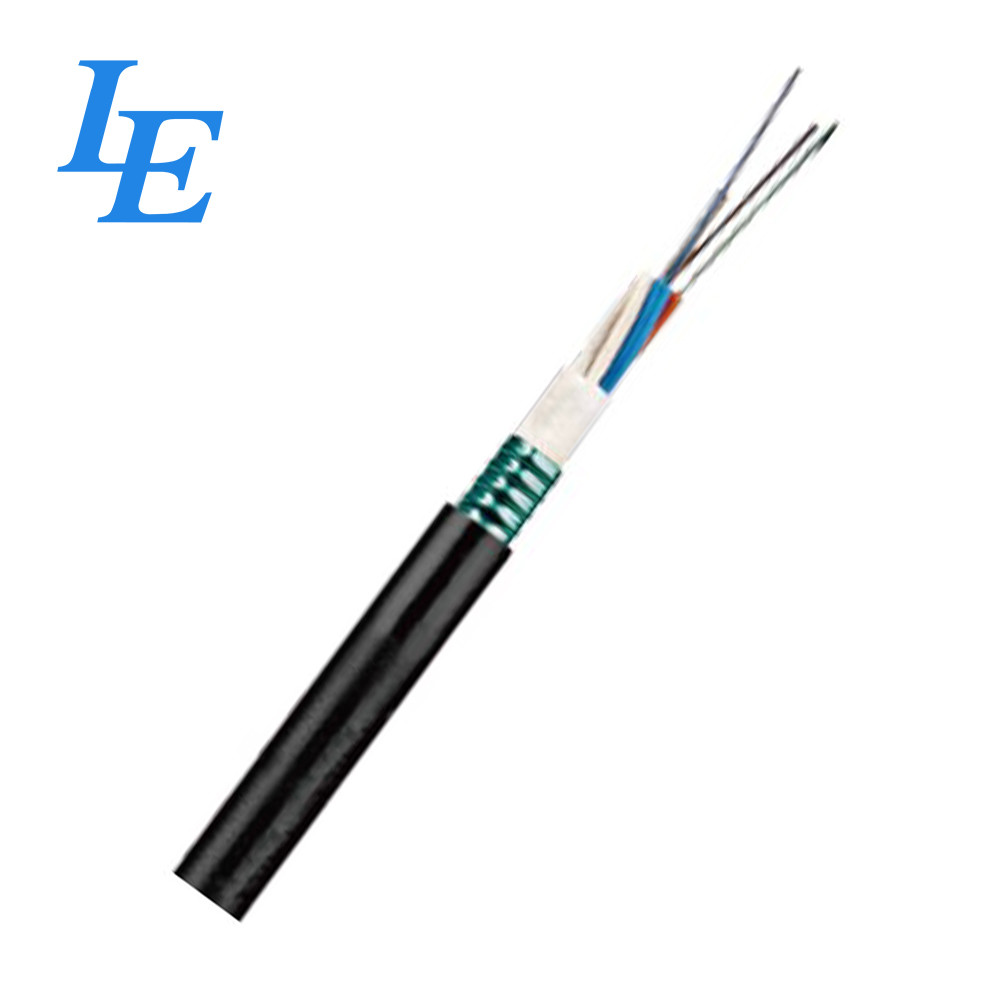 Black Multi Fiber Optic Cable , LE-GYTS Outdoor Fiber